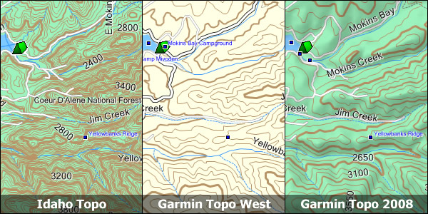 Garmin Topographic Map.Idaho Topo Garmin Compatible Map Gpsfiledepot