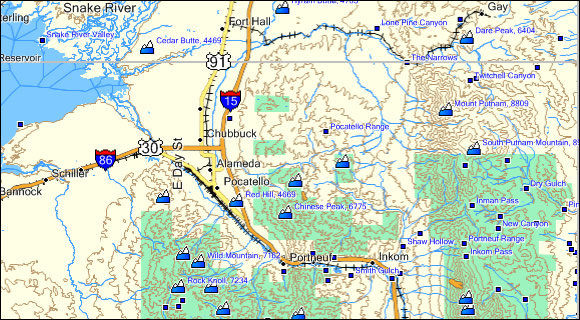 Idaho Topo Garmin Compatible Map GPSFileDepot - Eastern us topographic map