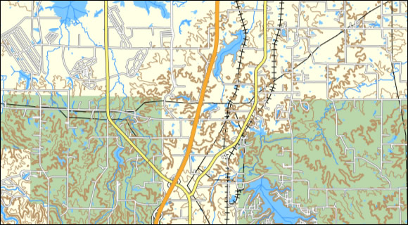 This Screenshot Compares The Illinois Topo Left To Garmin Us Topo Middle To Garmin Topo 2008 Rigth With The Exception Of The Dem Shading You Can See