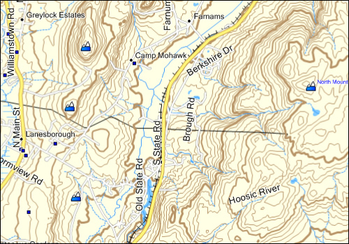 Topographic Map Of New England.Massachusetts Topo Map Garmin Compatible Map Gpsfiledepot