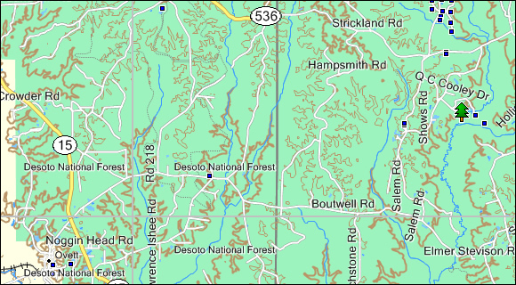 Mississippi Topo Garmin Compatible Map GPSFileDepot - Eastern us topographic map
