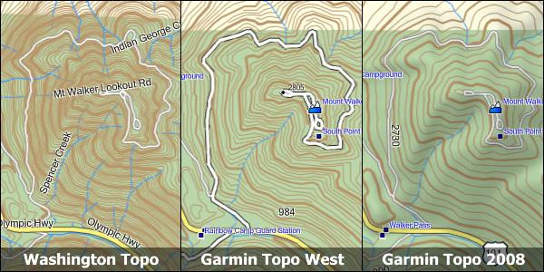 Garmin Topographic Map.Washington 24k Topo Garmin Compatible Map Gpsfiledepot